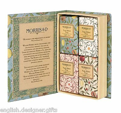 NEW William Morris Fruits Guest Soap Collection 4 x 50g