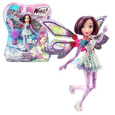 Winx Club - Tynix Fairy Doll - Tecna Doll 28cm with Magic Robe