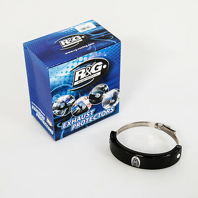 R&G Oval Supermoto Motorcycle Exhaust Protector - Black