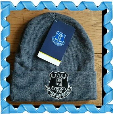 Official Everton Adults Grey Bronx hat with Club Crest - Great Gift Idea!