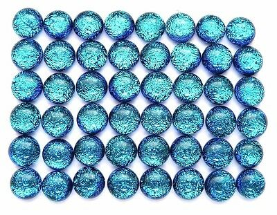 sparkle TINY TURQUOISE Lot 48 pcs DICHROIC earrings FUSED GLASS (B5) cab