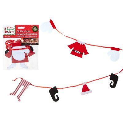 175cm Elf Clothes Line Novelty Christmas Decorations Themed Indoor Fun Clothes