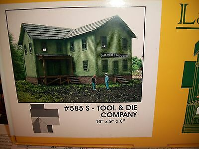 Branchline Laser Art Building Kit S Scale Caldwell Tool & Die #585 Bob The Train