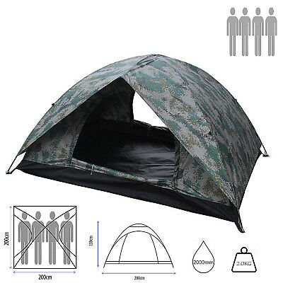 camping Tent Adventure Couple family Double Layer skin Dome 2/3/4 Berth vancy
