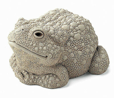 """""""fanciful Frog"""" Sculpture - Large - Natural Stone Finish - Garden Sculpture"""