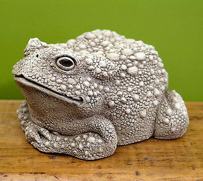 """fanciful Frog"" Sculpture - Large - Aged Stone Finish - Garden Sculpture"
