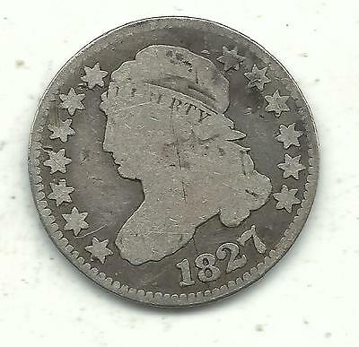 Good Plus Vintage 1827 Capped Bust Silver Dime-Old Us Coin-Jun113