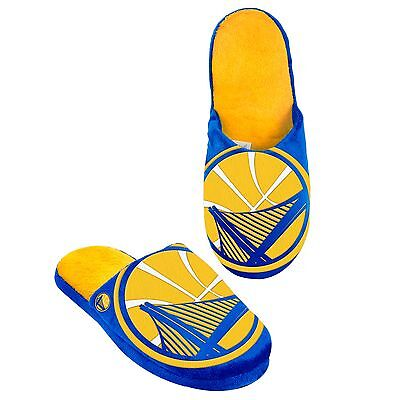 Golden State Warriors Slippers Team Colors Logo NEW Two Toned House shoes BLG