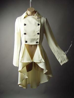 Steampunk Victorian French Military Tailcoat LARP Jacket 205 mv Coat 1XL 2XL 3XL