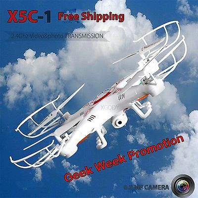 X5C-1 2.4Ghz 6-Axis Gyro RC Quadcopter Drone FLY UAV RTF UFO with HD Camera