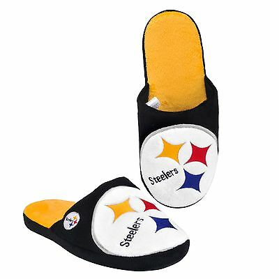 Pittsburgh Steelers Slippers Team Colors Big Logo NEW Two Toned House shoes BLG