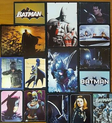 The WORLD OF BATMAN Sticker LOT of 44 No Doubles PANINI  2016