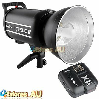 【AU】Godox QT-600IIM 1/8000s 600W 2.4G Studio Flash + X1T-C Transmitter For Canon