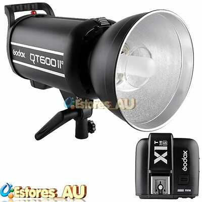【AU】Godox QT-600IIM 1/8000s 600W 2.4G Studio Flash + X1T-S Transmitter For Sony