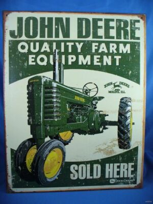 VINTAGE STYLE JOHN DEERE QUALITY FARM EQUIPMENT SOLD HERE deer green tractor