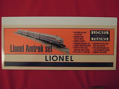 2 PC LOT Lionel Train Store Display Signs Amtrak Set
