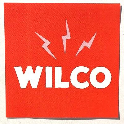 NEW 2016 Red Wilco Schmilco Square Promotional Sticker