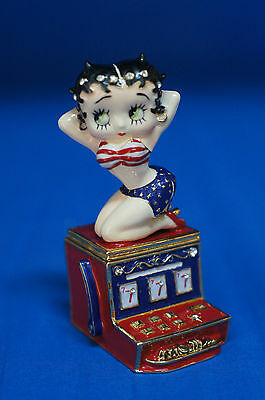 "Betty Boop Hot Slots Hinged Box LE 4"" Metal Figurine PHB Casino Retired"