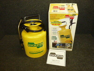 New! Chapin 1 Gallon Tri-Poxy Coated Steel Tank Sprayer, Funnel Top, 3101