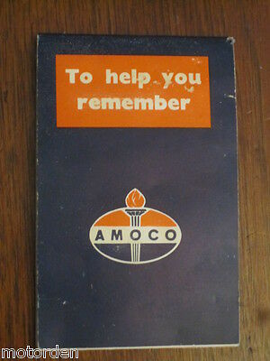1967 AMOCO OIL promotional note book with 1968 calendar, products list FREE POST