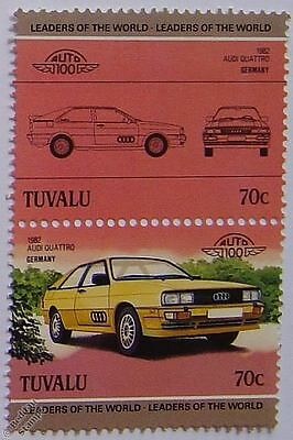 1982 AUDI QUATTRO Car Stamps (Leaders of the World / Auto 100)