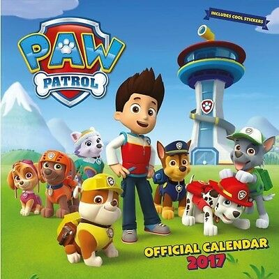 Paw Patrol 30cm 2017 Wall Calendar with Free UK P&P