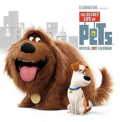 The Secret Life Of Pets 30cm 2017 Wall Calendar with Free UK P&P