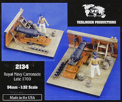 VERLINDEN PRODUCTIONS #2134 Royal Navy Carronade Late 1700 in 1:32