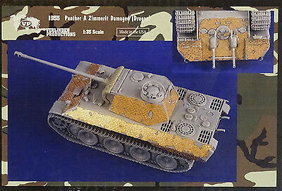VERLINDEN PRODUCTIONS #1955 Zimmerit Demaged for Dragon® Kit Panther A in 1:35
