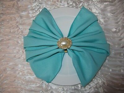 """Lot of 100/150/200/250 Spa Tiffany Blue  Polyester Napkins for Wedding 20"""" x 20"""""""