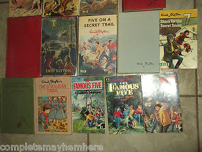 Enid Blyton books x 18 - rare hard to find 1st edition hardcover cheap bulk lot