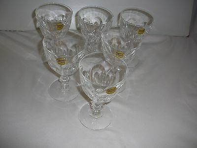 Set of 6 Chunky Wine Glasses Cristal d'Arques 24% lead crystal