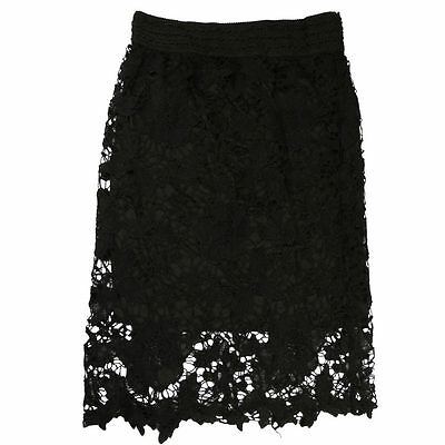 New Ladies Plus Size Floral Lace Skirt Womens Flare Mini Skirt Knee-Length Skirt