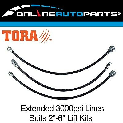 3 Extended Brake Hose Lines for Patrol GU Y61 with ABS - TD42 RD28 TB45 TB48