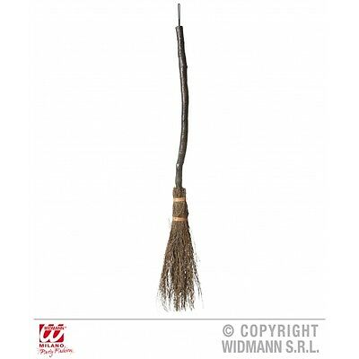 Crooked Witch Broom Novelty Prop for Halloween Fancy Dress Accessory