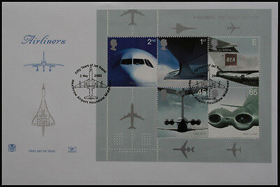 Unaddressed FDC Airliners (mini sheet)