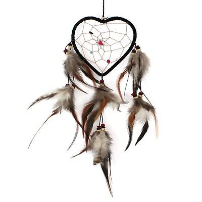 Large Heart Shaped Dream Catcher Feathers Colorful Beads Southwest Valentine