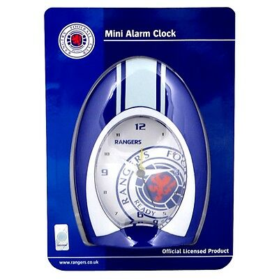 Rangers Quartz Alarm Clock - Official Fc Football Fan Souvenir Bedroom Dad Gift