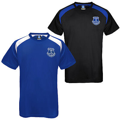 Everton FC Official Football Gift Mens Poly Training Kit T-Shirt