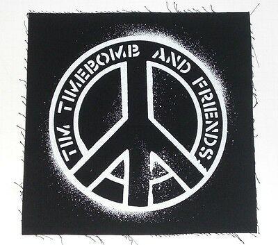 """RANCID: TIM TIMEBOMB AND FRIENDS Peace Sign BACK PATCH 12"""" Sew-On jacket patch"""