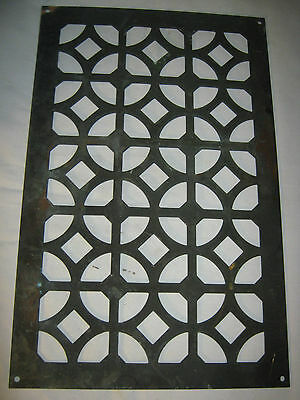 #3 Antique Bronze Window Pane Garden Panel Plaque Vent Wall Grate Plate Screen