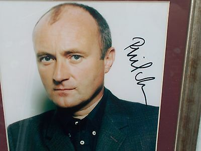 Phil Collins Genesis Framed Signed Picture