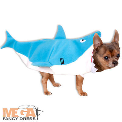 Shark Dog Fancy Dress Sea Animal Funny Hawaiian Halloween Puppy Pet Costume New