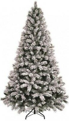 Snow Valley Fir Flocked Artificial Christmas Tree 1.8m Xmas Decoration - 6ft