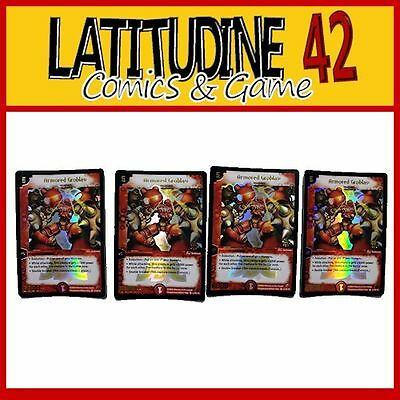 Tcg Duel Masters Card Game Armored Groblav Inglese X 4 Promo Foil Nuove