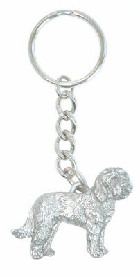 Goldendoodle Keychain Fine Pewter Silver Key Chain Ring