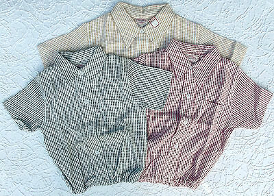 Vintage baby clothes Aertex shirt Cellular Clothing Company 1950s 1930s Coloured