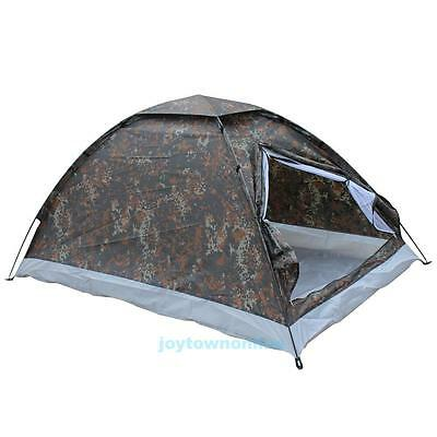 Outdoor 4Season 2 Person Camping Hiking Waterproof Folding Backpacking Tent Camo