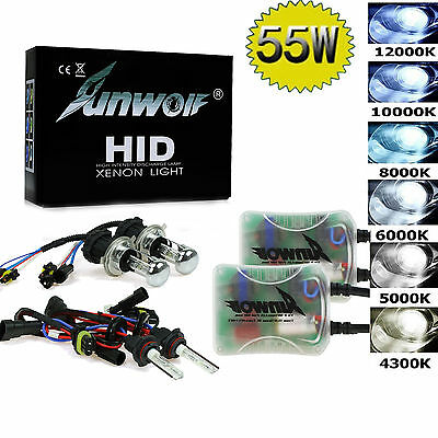 55W DC Car Xenon Bulb Kit H1 H3 H4 H7 H11 9005 9006 Hid Car Headlight All Colors