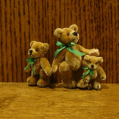 World of Miniature Bears #1004 TAN BROOCH SET, by Teresa Yang From Retail Shop